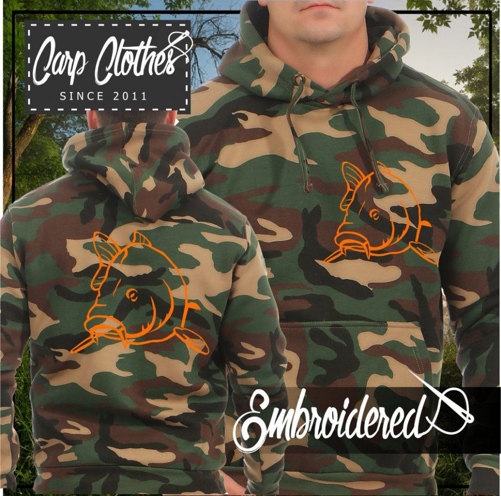 004 EMBROIDERED CAMO FISHING HOODIE